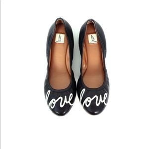 Ellen Degeneres Langston LOVE ❤️ leather flats 10M